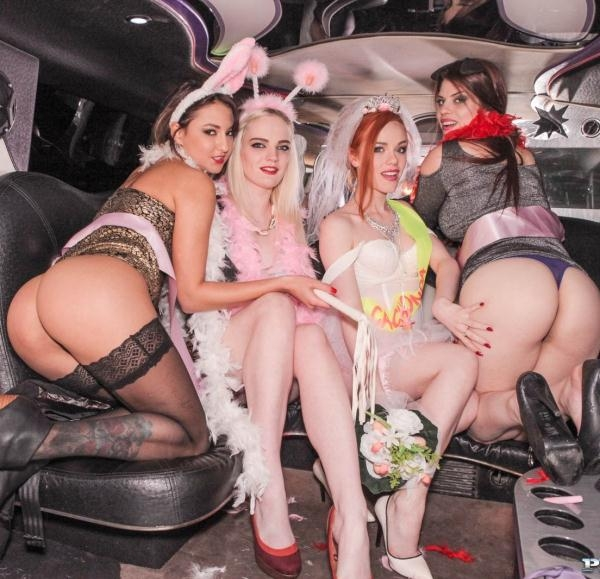 Carly Rae, Ella Hughes, Lucia Love, Suzy Rainbow - Orgy in the Limousine (Private) [FullHD 1080p]