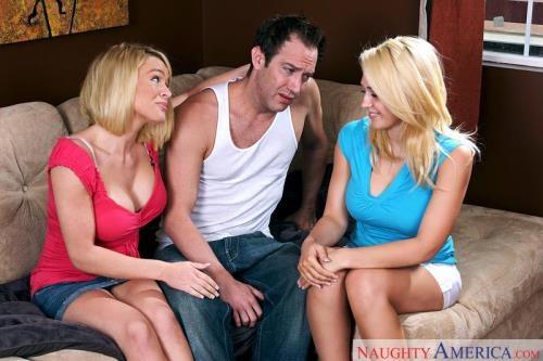 2ChicksSameTime.com / NaughtyAmerica.com [Kagney Linn Karter, Krissy Lynn - Remastered] SD, 360p