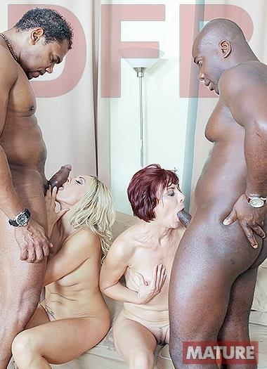 Brittany, Lara Red - Two hot matures fuck black guys / 23 Mar 2017 [DFBnetwork / SD]