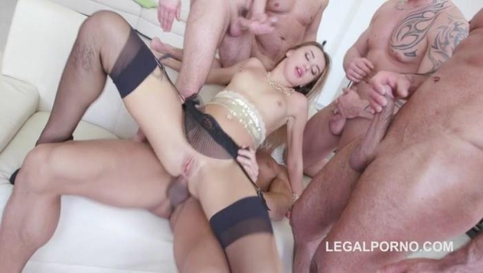 LegalPorno.com - 7on1 Double Anal GangBang with Katrin Tequila / See Trailer for more info / GIO336 [SD, 480p]