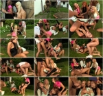 Rachel Evans, Jenna Lovely, Lucy Bell, Bella Baby - An Outhouse Full Of Hotties - Tainster.com (HD, 720p)