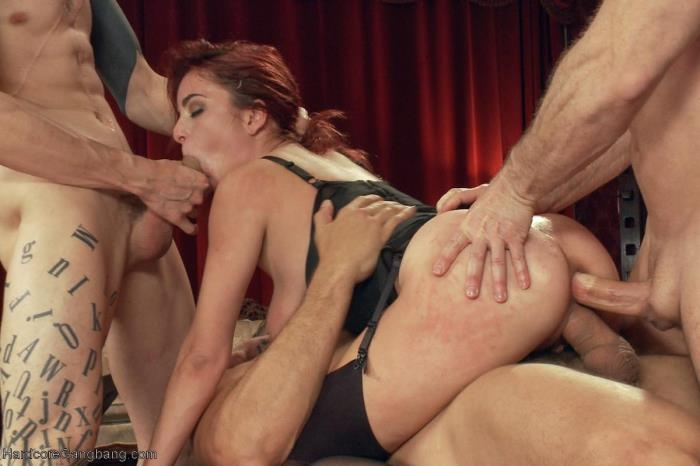 HardcoreGangBang.com - Ashlee Graham - High End Slut services BDSM Gentlemen's Club! [SD, 360p]