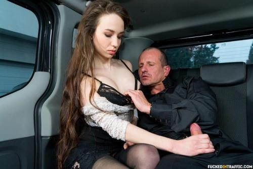 FuckedInTraffic.com / PornDoePremium.com [Angel Rush - Steak & Blowjob Day hot fuck in the car with Russian babe Angel Rush] SD, 480p