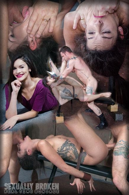 SexuallyBroken.com: Edsen Sin BaRS part 3: Tiny little slut is belted down and brutally fucked to several orgasms! [HD] (798 MB)