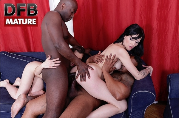 DFBPorn: Anife de Paloma, Meggie P - Interracial Group Fuck for 2 Matures [2017/HD]