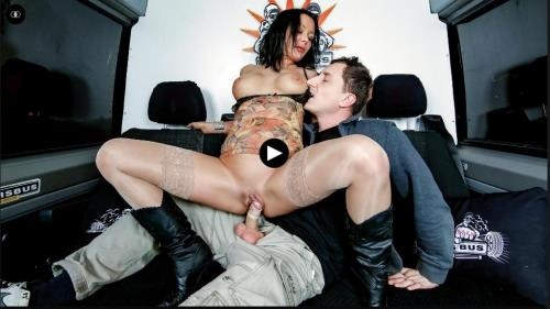 BumsBus.com / PornDoePremium.com [Anna Von - Steamy fuck and facial in the bus with German MILF Anna Von Freienwalde] SD, 480p