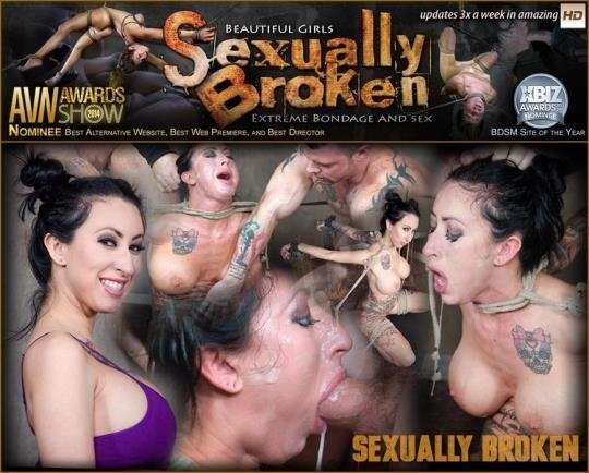 SexuallyBroken: Lily lane is destroyed by a brutal face fucking, while being made to cum over and over! (SD/540p/122 MB) 29.03.2017