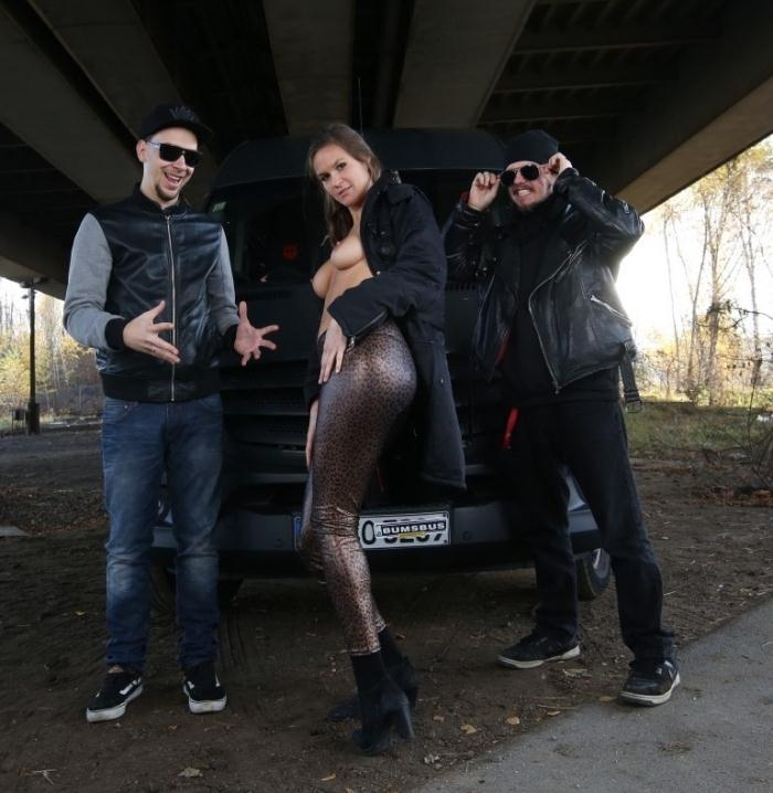 Luisa W.- Kinky bus sex and cum in mouth for busty German brunette Luisa  [HD 720p] BumsBus