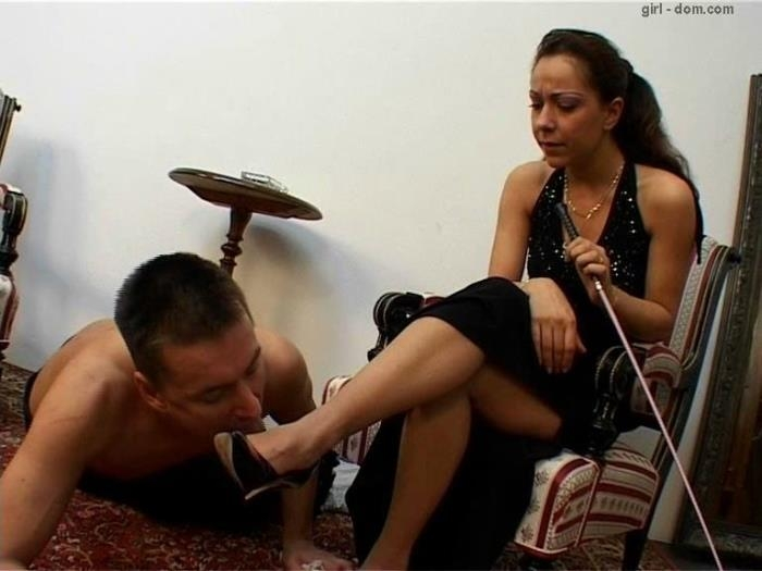 Mistress and her Foot Slave (Girl-dom) SD 576p