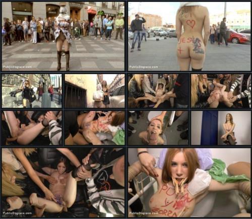 PublicDisgrace.com / Kink.com [Mona Wales, Xavi Tralla and Brenda Boop] SD, 540p