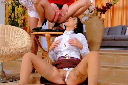 PissingInAction.com / Tainster.com [Roxyn, Lena Cova - Interior Designer Piss Fucks His Clients] HD, 720p