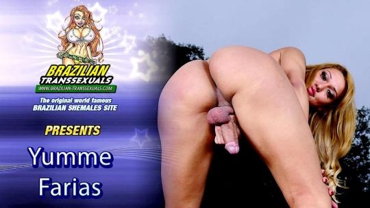 Brazilian-Transsexuals: Yumme Farias - Pretty Yumme Farias Jacks Off (FullHD/1080p/915 MB) 18.03.2017