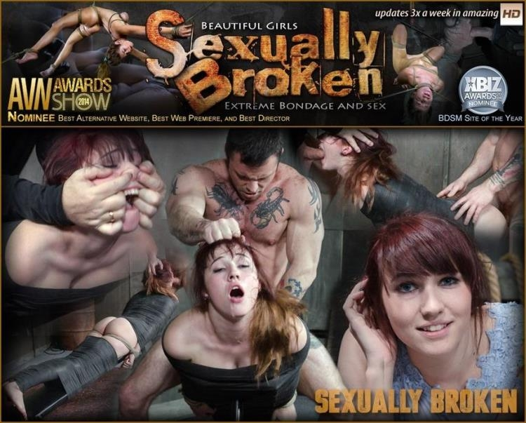 Stephie Staar is bound on a vibrator, while being brutally face fucked and deep throated! [SexuallyBroken / SD]