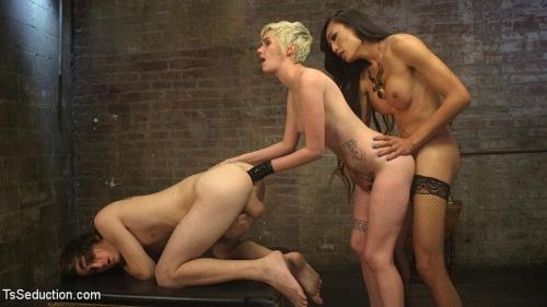TsSeduction.com / Kink.com [Venus Lux, Mercy West, Tony Orlando - Cramming Anatomy 101 With Venus Lux] SD, 540p