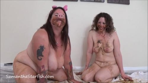 Scat [Samantha - Lesbian Poppy Piggy Play] FullHD, 1080p
