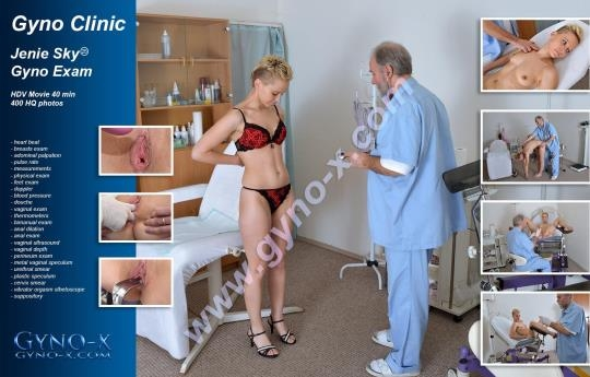 Gyno-X: Jenie Sky - 25 years girl gyno exam (HD/720p/1.05 GB) 28.03.2017