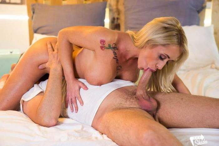 XXXShades.com / PornDoePremium.com - Christina Shine - Busty Hungarian babe Christina Shine cuckolds hubby and gets cum on tits [SD, 480p]