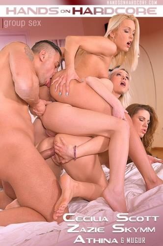 HandsOnHardcore.com / DDFNetwork.com [Cecilia Scott & Zazie Skymm & Athina - Every mans Dream - Hot Sex with Wife and 2 Sluts] SD, 360p