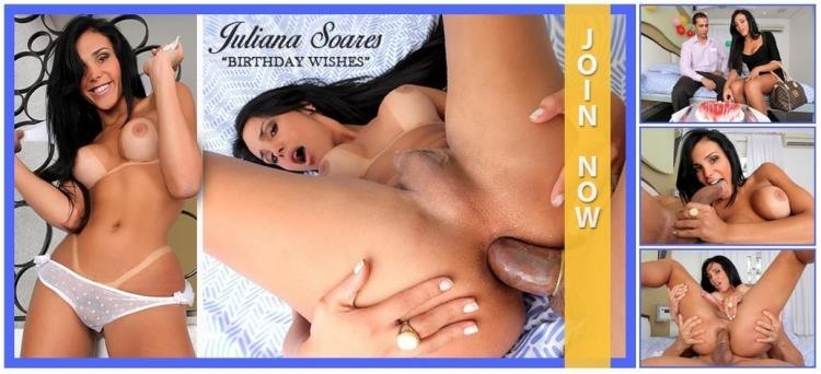 Juliana Soares - Anal on Birthday / 2017 [Trans500 / SD]