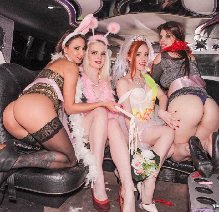 Carly Rae, Ella Hughes, Lucia Love, Suzy Rainbow - Orgy in the Limousine  [FullHD 1080p]