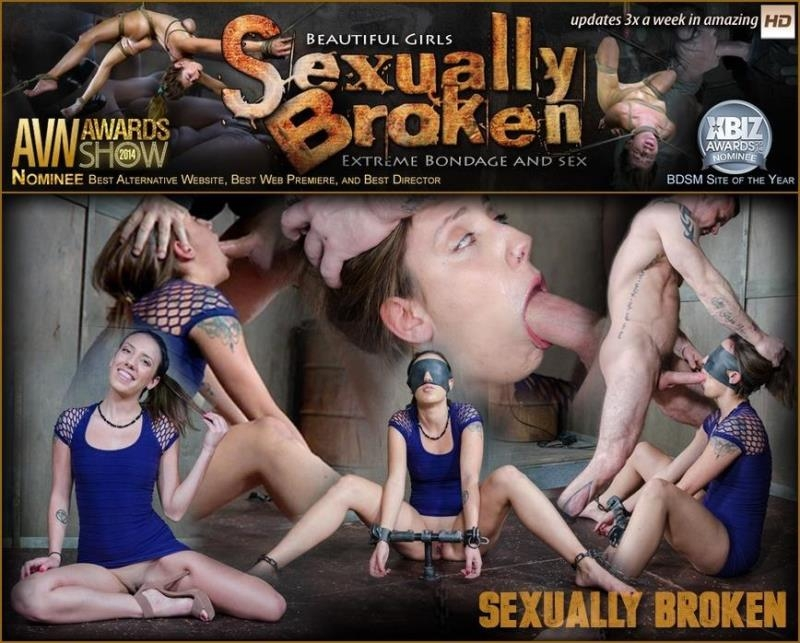 SexuallyBroken.com: Sophia Grace is bound, blindfolded, vibrated, to brutal orgasms while being facefucked to subspace [SD] (106 MB)