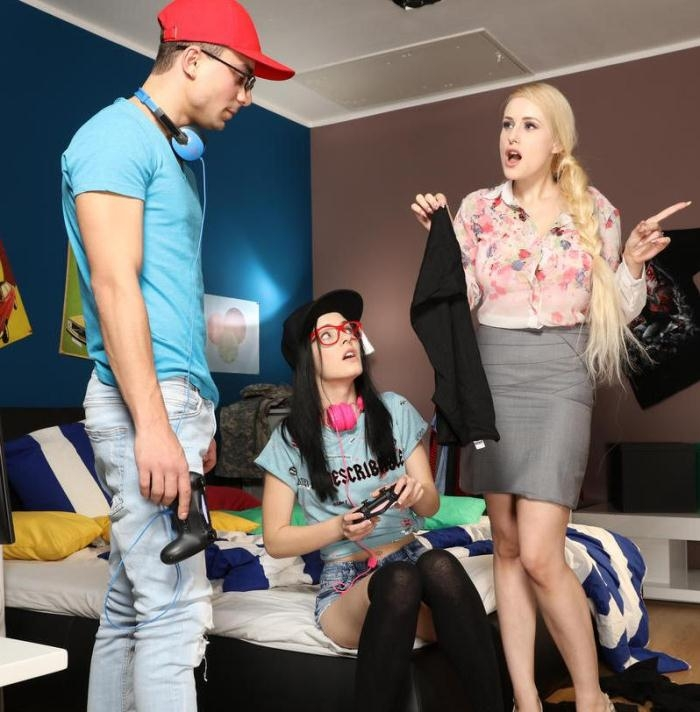 Angel Wicky,Anie Darling- Big tits milf seduces son's teen gf  [FullHD 1080p] MomXXX