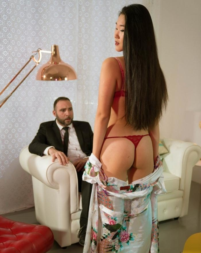 Katana- Sexy Chinese babe Katana delights in Spanish cock and eats cum  [HD 720p] XXXShades