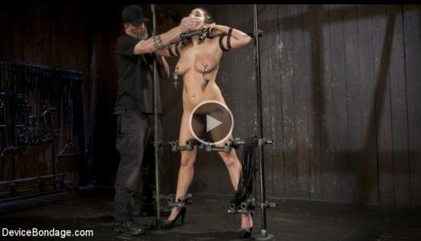 DeviceBondage, Kink - Karlee Grey - Big Tit Squirter Screams in Metal Bondage [HD, 720p]