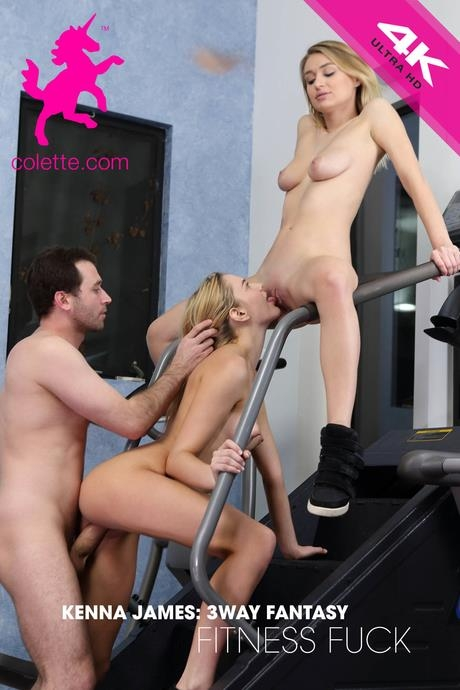 Colette: Kenna James, Natalia Starr - Kenna James: 3way Fantasy Fitness Fuck with Natalia Starr and James Deen (SD/544p/523 MB) 17.03.2017