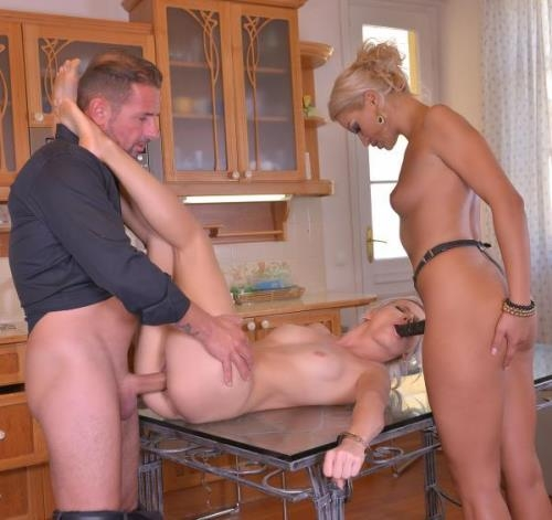 HouseOfTaboo.com / DDFNetwork.com [Smoking And Spanking - Young Babe Gets Humiliated By Couple] HD, 720p