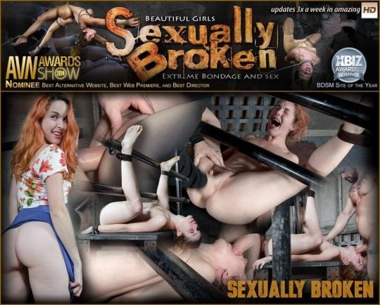 SexuallyBroken: Amarna Miller is bound on her back and fucked from both ends, brutal face fucking and orgasms! (SD/540p/107 MB) 13.03.2017
