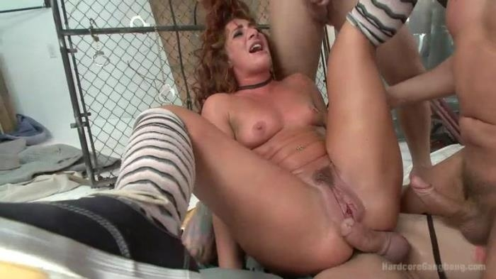 Super Hot red head taken down in a nasty squirt fest. Double Anal! (HardcoreGangbang) SD 540p