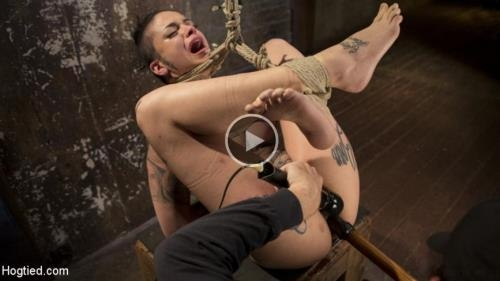 Hogtied.com / Kink.com [Leigh Raven - Tattooed Pain Slut Endures Brutal Bondage with Agonizing Torment] SD, 540p