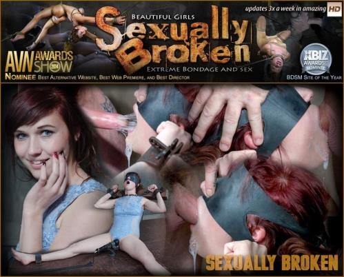 SexuallyBroken.com [Stephie Staar is bound on a vibrator, while being brutally face fucked and deep throated!] HD, 720p