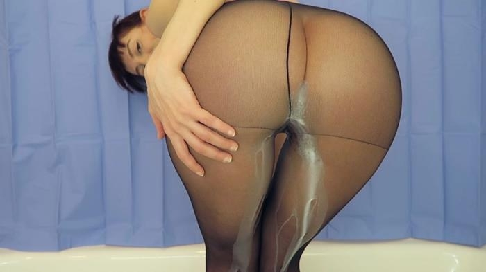 Mylene - Milk enema with pantyhose on (Scat Porn) FullHD 1080p