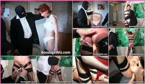 BondageWiz.com [Hot Tied Redhead Gets Butt Spanked] SD, 480p