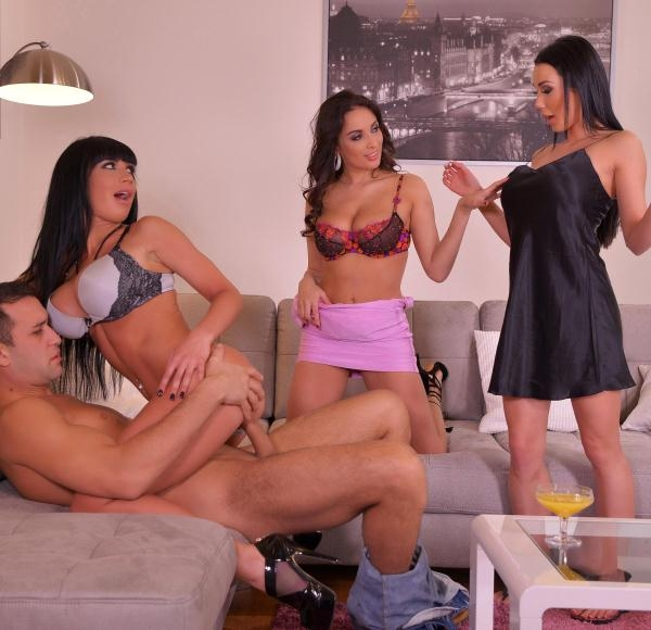 HandsonHardcore: Anissa Kate, Patty Michova, Valentina Ricci  - Anal Porn Home Party: Horny Fantastic Four Fuck For Fun (2017) SD  540p