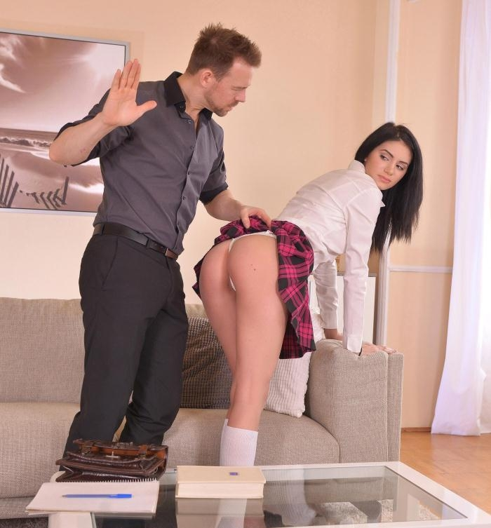 Delia - Punished Pussy: Naughty Schoolgirl Spanked and Fucked  [HD 720p]