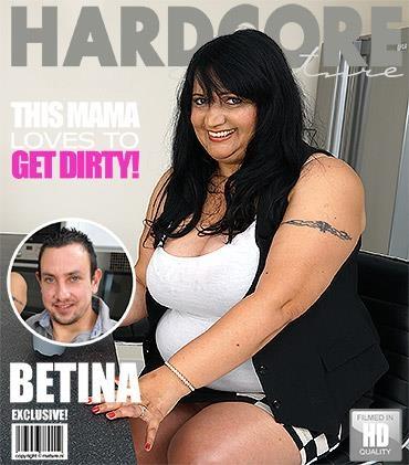Betina K - Chubby mature slut fucking and sucking [Mature.nl / FullHD]