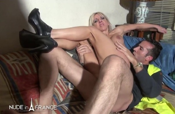 Therese - The top manager is a busty blond cougar ready to squirt with an employee [NudeInFrance / HD]