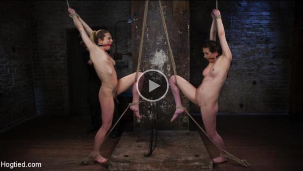 Casey Calvert, Dahlia Sky - Casey and Dahlia Suffer Together in Brutal Bondage [Hogtied.com / Kink.com] (HD, 720p)