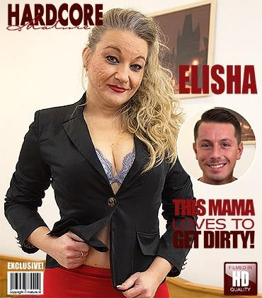 Mature.nl, Mature.eu: Elisha (44) - Naughty housewife fucking and sucking (FullHD/1080p/1.64 GB) 25.04.2017
