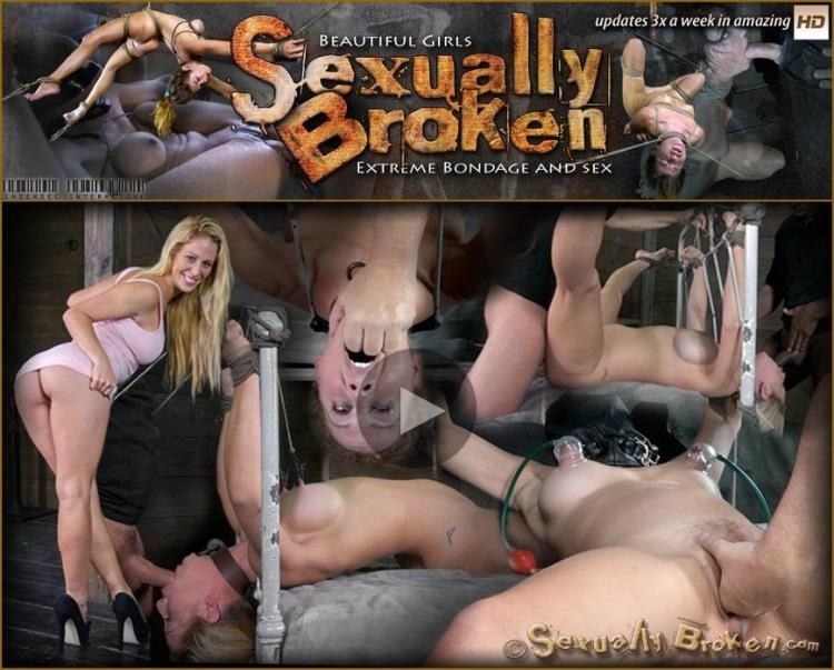 Cherie DeVille takes on two cock for the first time ever! Deep throated, bound and fucked! Part 1 [SexuallyBroken / HD]