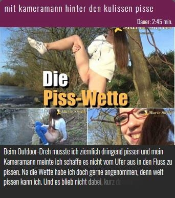 Marie-Skyler - Mit kameramann hinter den kulissen pisse (NurdaSeine) HD 720p