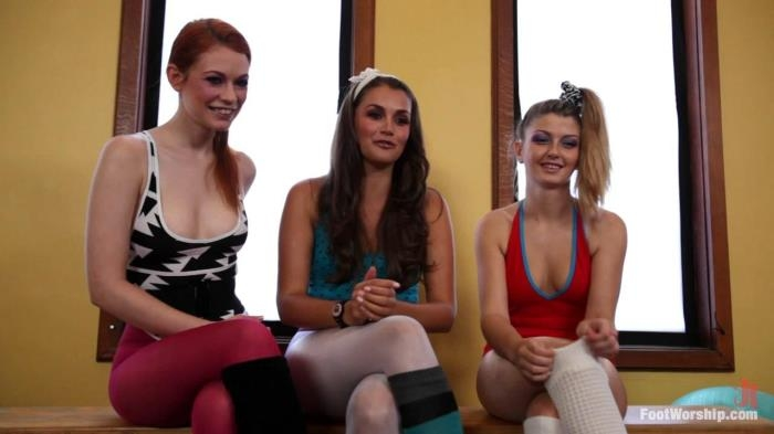 Allie Haze, Justine Joli, Staci Silverstone - Lesbian Footdance: What A Feeling (FootWorship, Kink) HD 720p