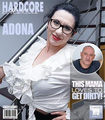 Adona (43) - Hairy housewife fucking and sucking [Mature.nl / FullHD]