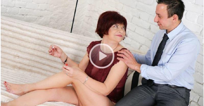 (Oral / MP4) Donatella - Coquettish Granny LustyGrandmas.com / 21Sextreme.com - SD 544p
