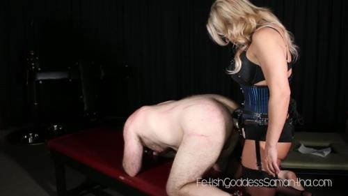 AynRules.com / FetishGoddessSamantha.com [Goddess Samantha bends the brat over] FullHD, 1080p