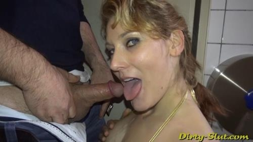 Dirty-slut.com [Nikki Sucking Off 15 Strangers At The Men\'s Room] HD, 720p