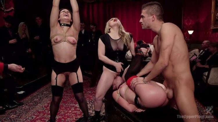 Aiden Starr, Kimber Woods, Roxanne Rae - Holiday BDSM Slut Orgy turns Fangirl to Sex Slave [Kink, TheUpperFloor / HD]